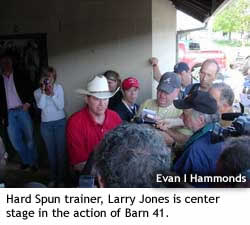 Hard Spun Trainer Larry Jones