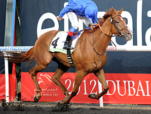 African Story wins the Godolphin Mile.