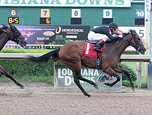 Afternoon Tango wins the 2014 Louisiana Cup Filly and Mare Sprint Stakes.
