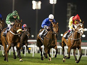 Ahzeemah wins the 2013 Nad al Sheba Trophy.