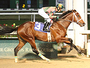 Albano with jockey Kerwin Clark aboard wins the 4th running of the Sugar Bowl Overnight Stakes at Fair Grounds.