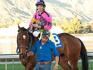 Alert Bay wins the 2015 California Cup Turf Classic.