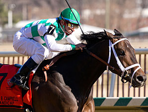Alma d'Oro wins the 2011 John B. Campbell Handicap.