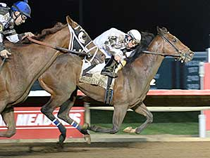 Alsvid wins the 2014 Prairie Express Stakes.