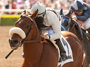Amazombie wins the 2012 Potrero Grande.