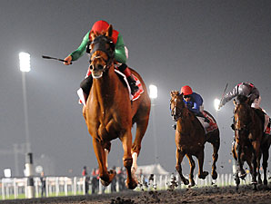 Animal Kingdom wins the 2013 Dubai World Cup.