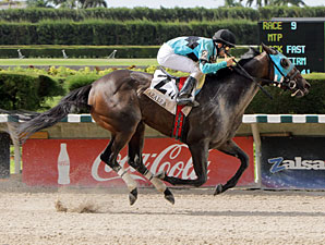 Another Romance wins the 2012 Azalea Stakes.