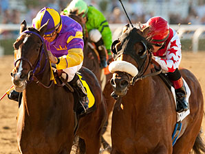 Anthony's Cross wins the 2011 Robert B. Lewis over Riveting Reason.