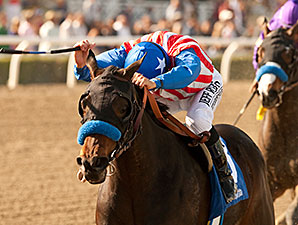 Awesome Baby wins the 2014 Santa Ynez Stakes.