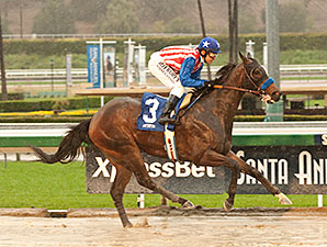 Awesome Baby wins the 2014 Santa Ysabel.