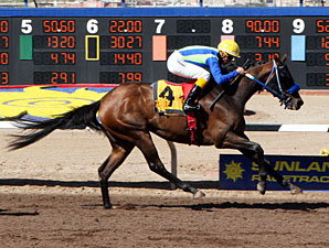 Back Seat Roll wins the New Mexico Breeders' Oaks.