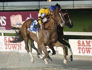 Backtalk wins the 2010 Sportsmans Paradise.
