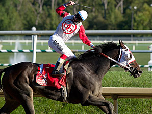 Baltimore Belle wins the 2010 Maryland Million Oaks.