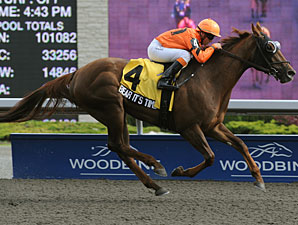 Bear It's Time wins the 2011 Lady Angela Stakes.