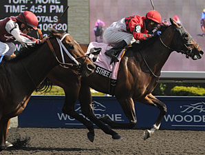 Beeker Street wins the 2012 Queenston Stakes.