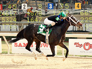 Bella Medaglia wins the 2011 Treasure Chest.