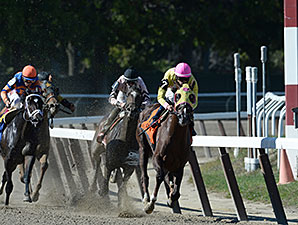 Belle Gallantey wins the 2014 Beldame.