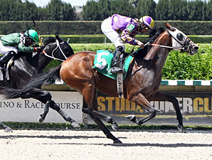 Best Plan Yet wins the 2013 Foolish Pleasure Stakes.