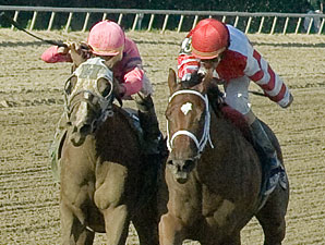 Blind Luck wins the 2011 Delaware Handicap.