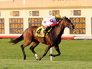 Bobby's Kitten wins the 2014 Penn Mile Stakes.