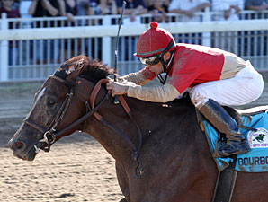 Bourbon Courage wins the 2012 Super Derby.