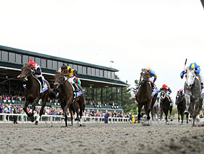 Brilliant Speed wins the 2011 Blue Grass Stakes.