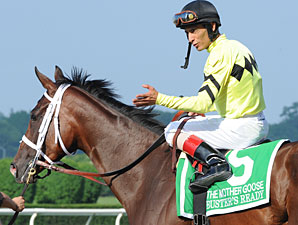 Buster's Ready wins the 2011 Mother Goose.