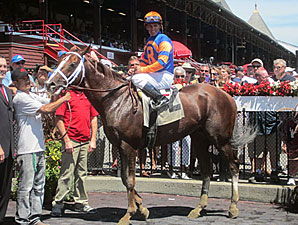 Caixa Eletronica and John Velasquez at Saratoga.