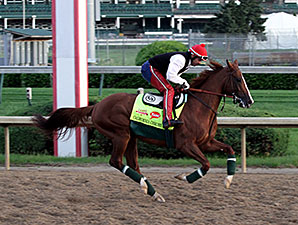 California Chrome - Churchill Downs, May 1, 2014.