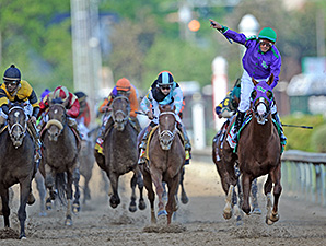 California Chrome wins the Kentucky Derby.