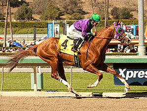 California Chrome wins the 2014 San Felipe.