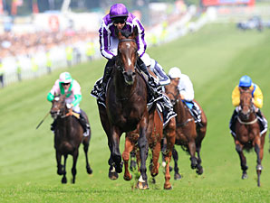 Camelot wins the 2012 Epsom Derby.