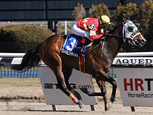 "Castaneda wins the 2010 Fred ""Cappy"" Capossela stakes."