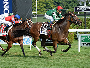 Cat's Claw wins the 2014 Fasig-Tipton Waya Stakes.