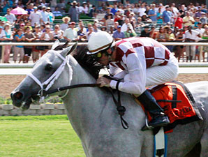 Circustown Rose wins the 2012 Lane;s End Stallion Scholarship Stakes.