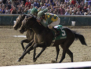 Cleburne wins the 2013 Iroquois Stakes.