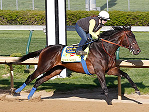 Code West works at Churchill Downs 4/22/2013.