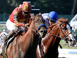 Coil and Shackleford duel in the stretch of the Haskell Invitational.