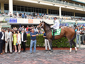 Commissioner wins the 2015 Skip Away Stakes.