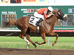 Congrats and Roses wins the 2012 Minnesota Distaff Championship.