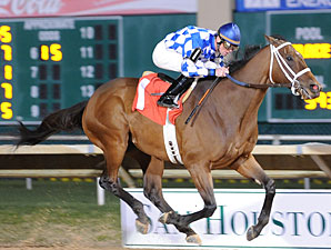 Coyote Legend wins the 2013 Star of Texas Stakes.