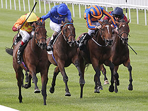 Cursory Glance wins the Moyglare Stud Stakes.