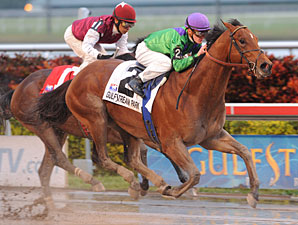 Custom for Carlos wins the 2010 Mr. Prospector.