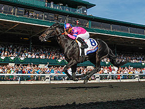 Dance With Fate wins the 2014 Blue Grass Stakes.