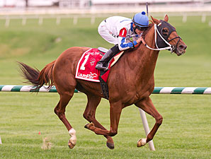 Dannhauser wins the 2012 Laurel Turf Cup.