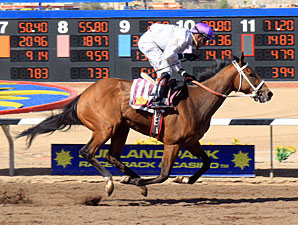 Dashkova wins the New Mexico Breeders Oaks.
