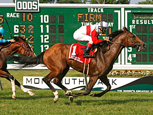 Data Link wins the Monmouth Stakes.