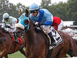 Deputy Fling wins the Gilded Time Stakes.