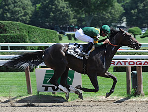 Devil by Design wins the 2010 Lucy Scribner Stakes.