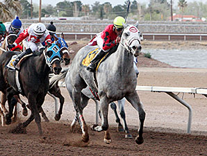Devons Ca Ching wins the 2014 Mt. Cristo Rey Handicap.